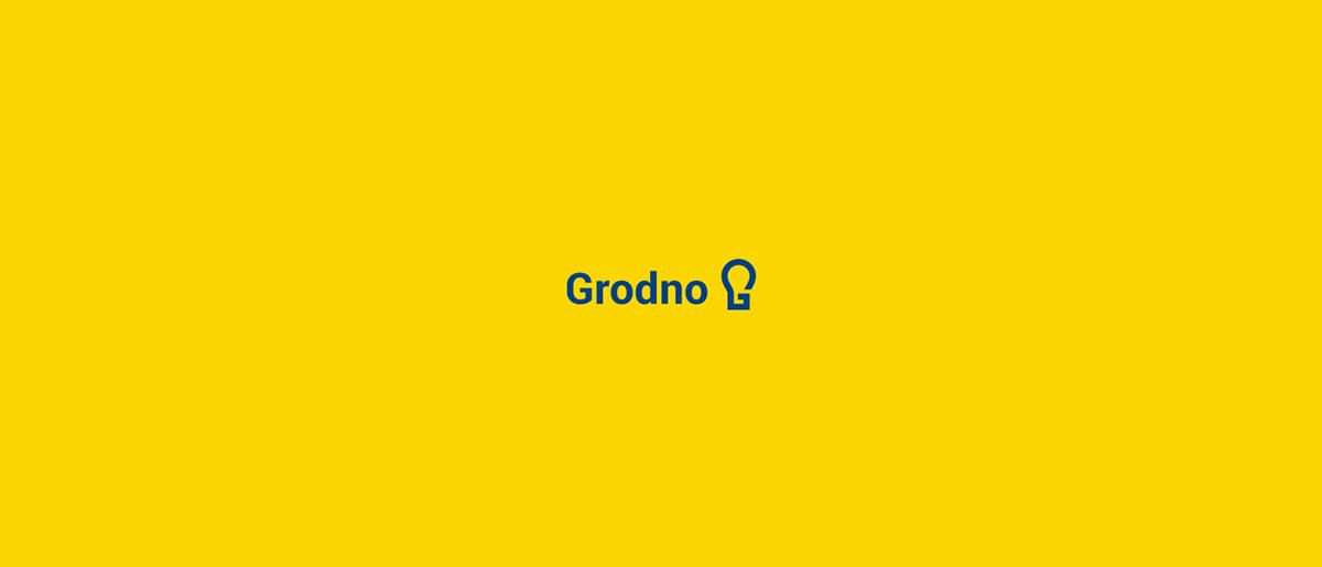 Grodno redesign rebranding Stationery papeteria  logo light