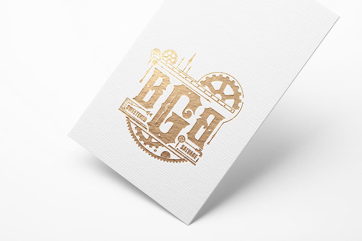 STEAMPUNK logo gold gears mechanical