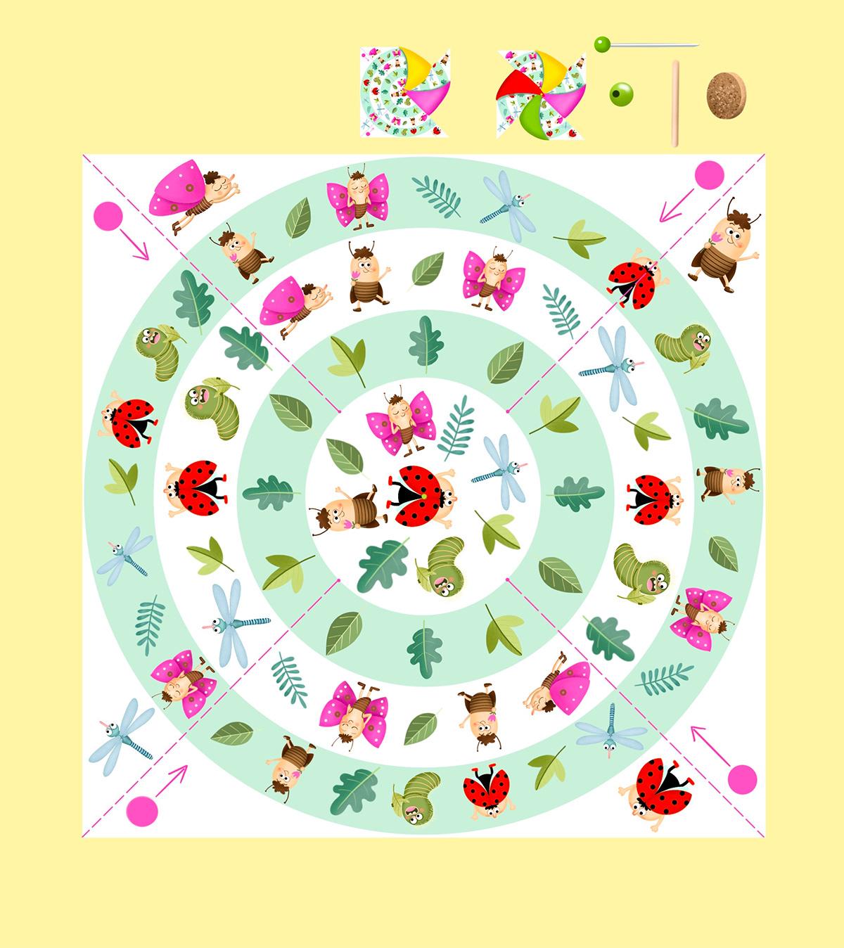 butterfly dragonfly insect ladybird summer windmill beetles children book children illustration