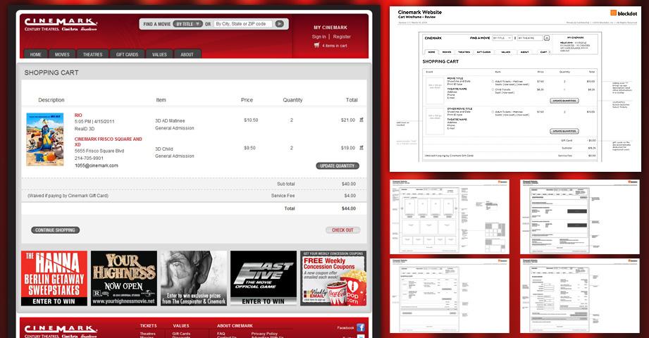 Cinemark Theaters Digital UI/UX on Behance