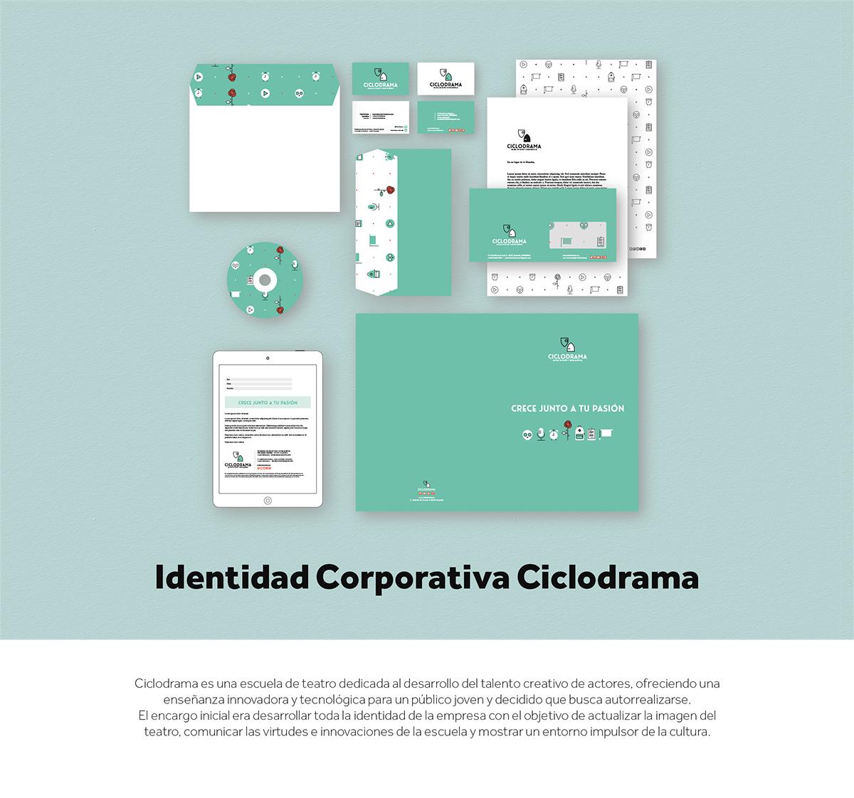 Ciclorama Theatre School Branding on Student Show
