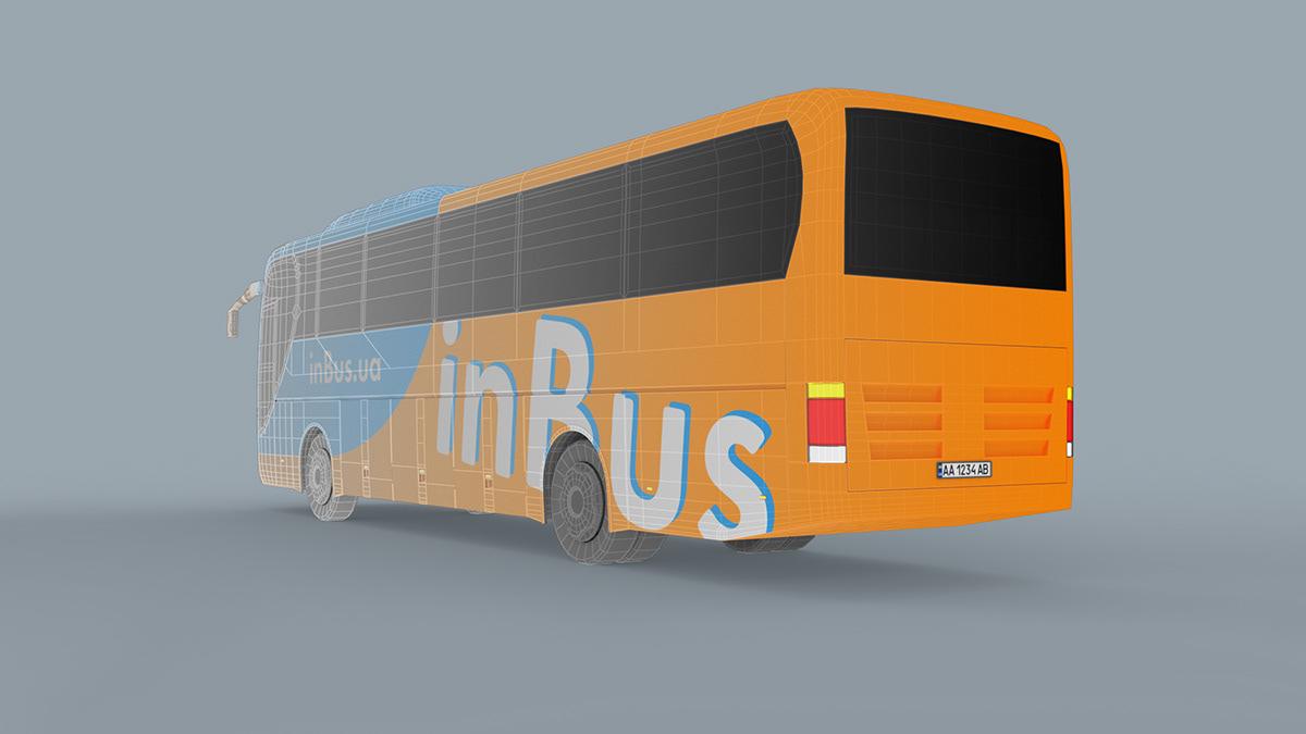 3D Advertising  bus model