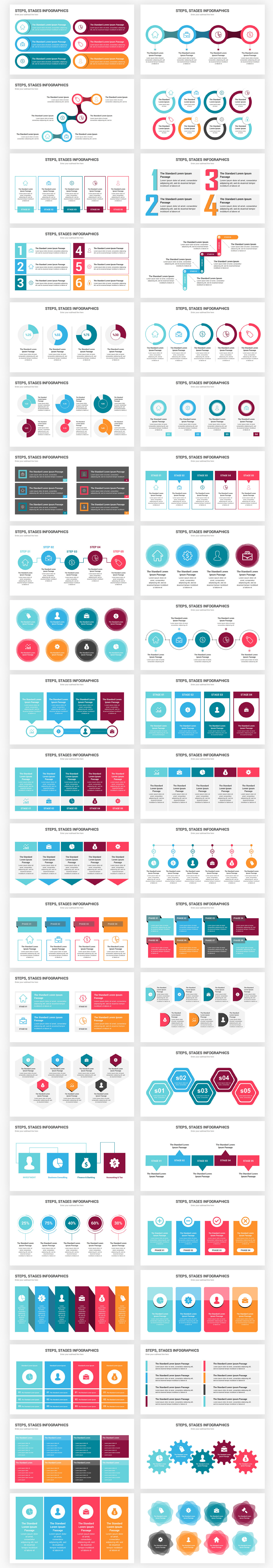 Stages Infographics PowerPoint Template diagrams - 2