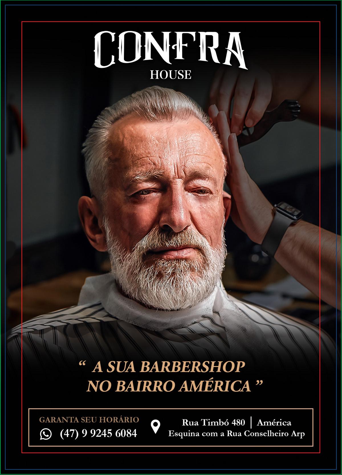 barber flyer panfletos shop