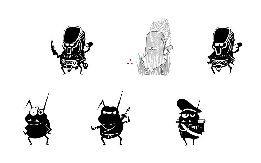 Character design  cartoon Character bugs Cat