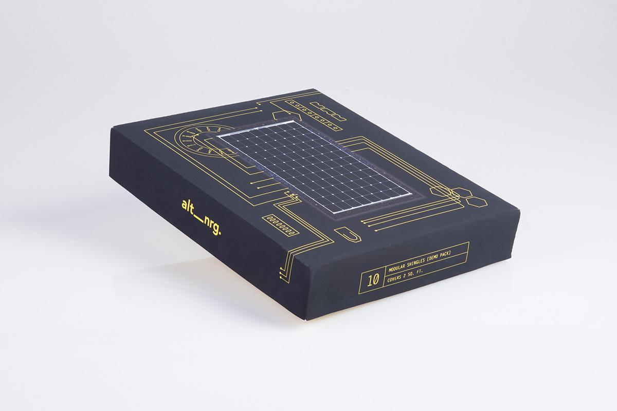 package solar power shingles box
