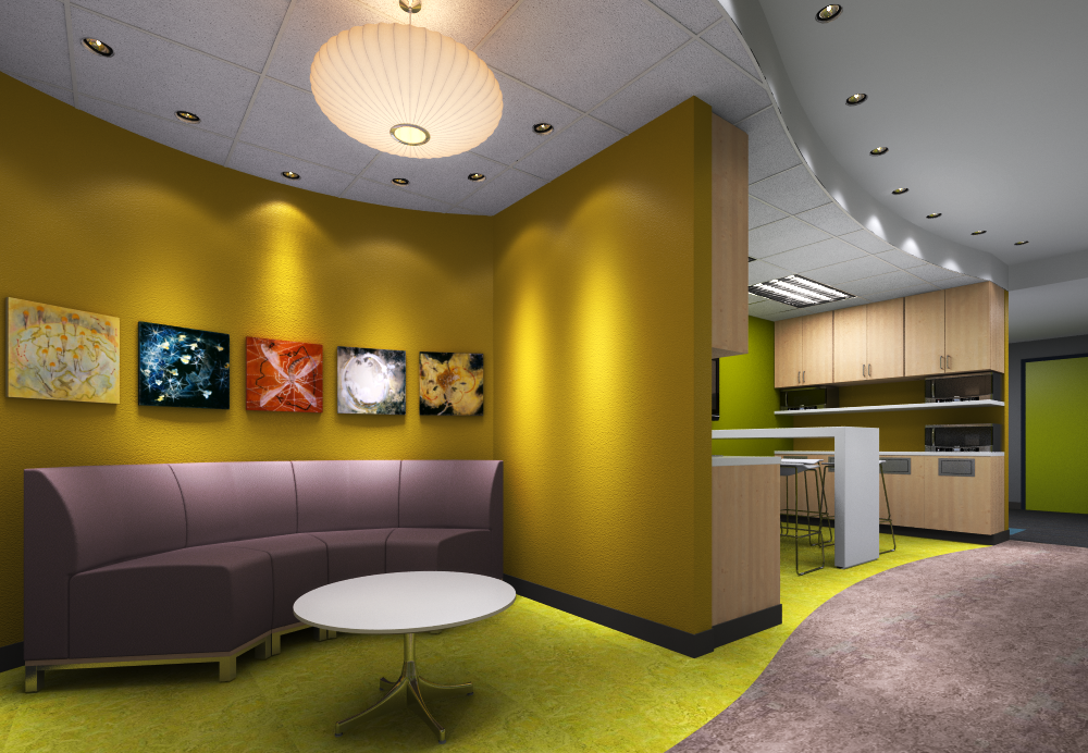 Portland Office Interior Design Study 3d Renderings