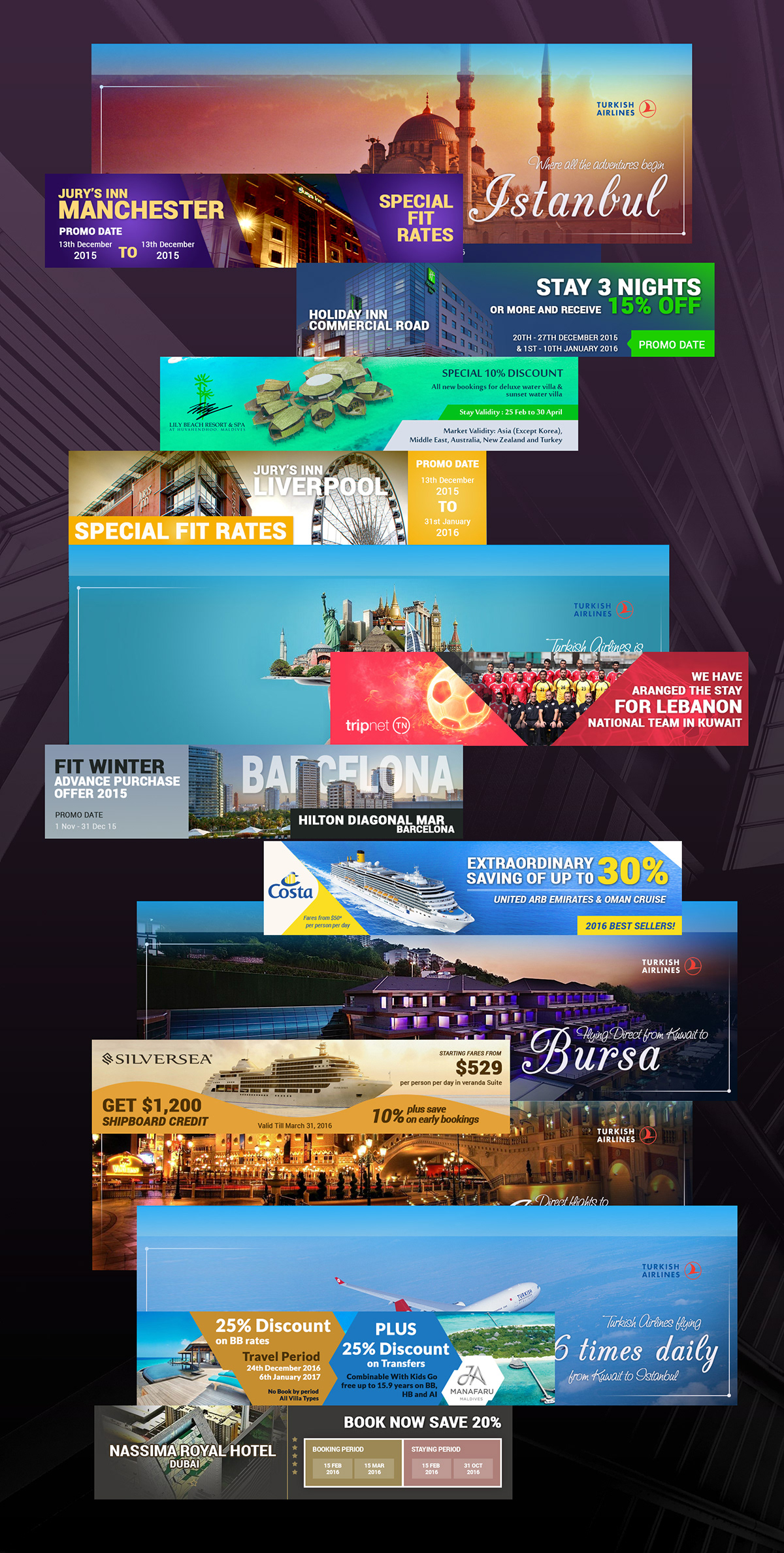 Ads Banner Designs On Pantone Canvas Gallery