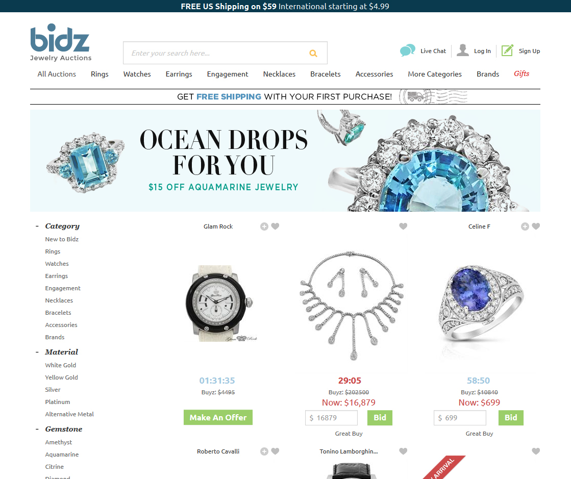 Bidz Com Banners Landing Pages Newsletters On Behance