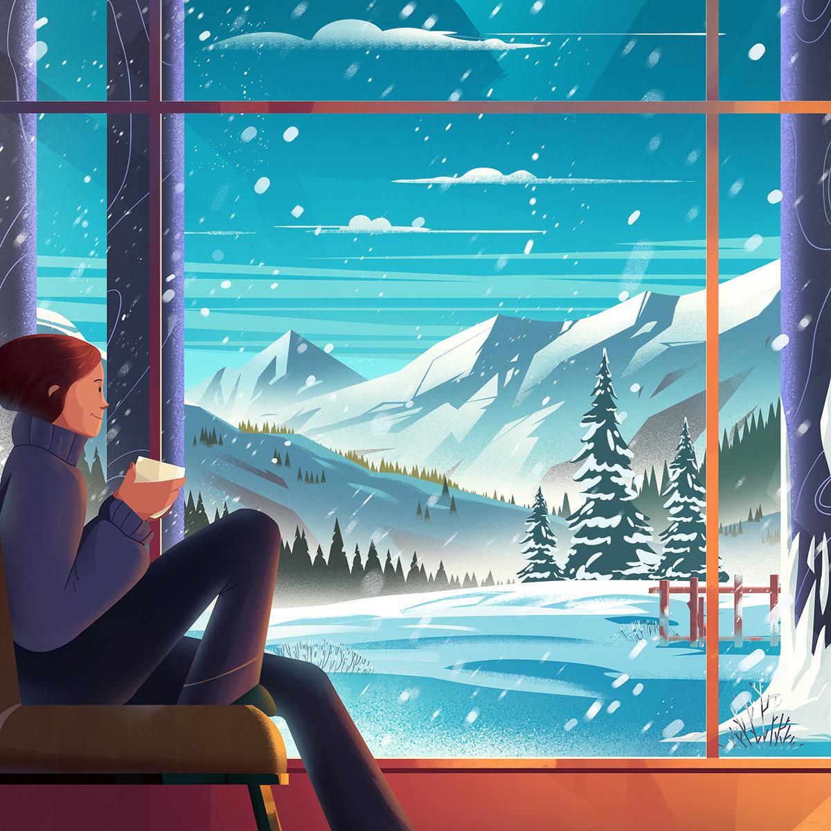 Image may contain: snow and screenshot