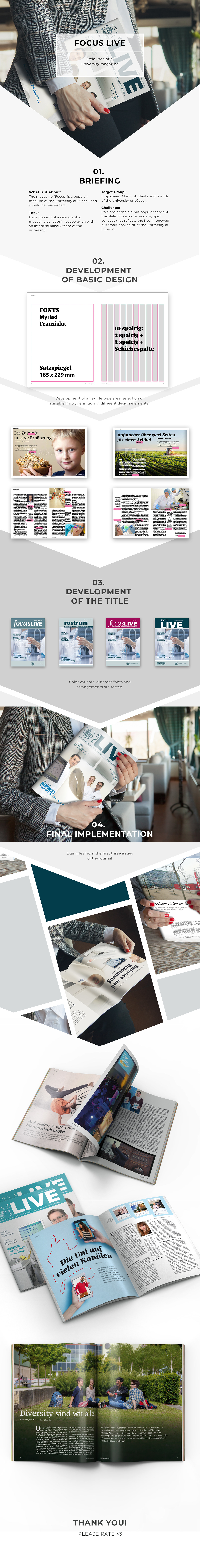 Adobe Portfolio Corporate Communication print editorial design  University magazine
