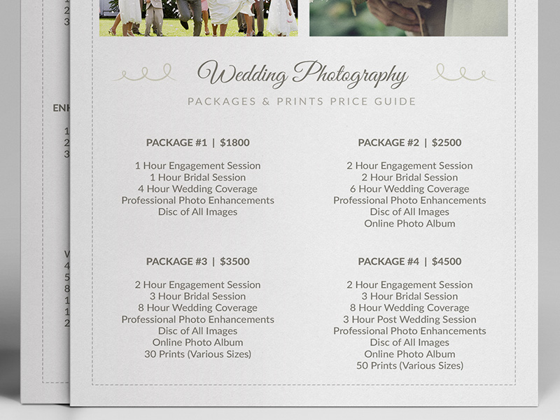 Wedding Photography Guide: Wedding Photographer Pricing Guide PSD Template V3 On Behance