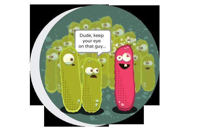 Bacteria poop science