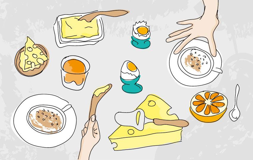 ILLUSTRATION  photoshop breakfast tray product design