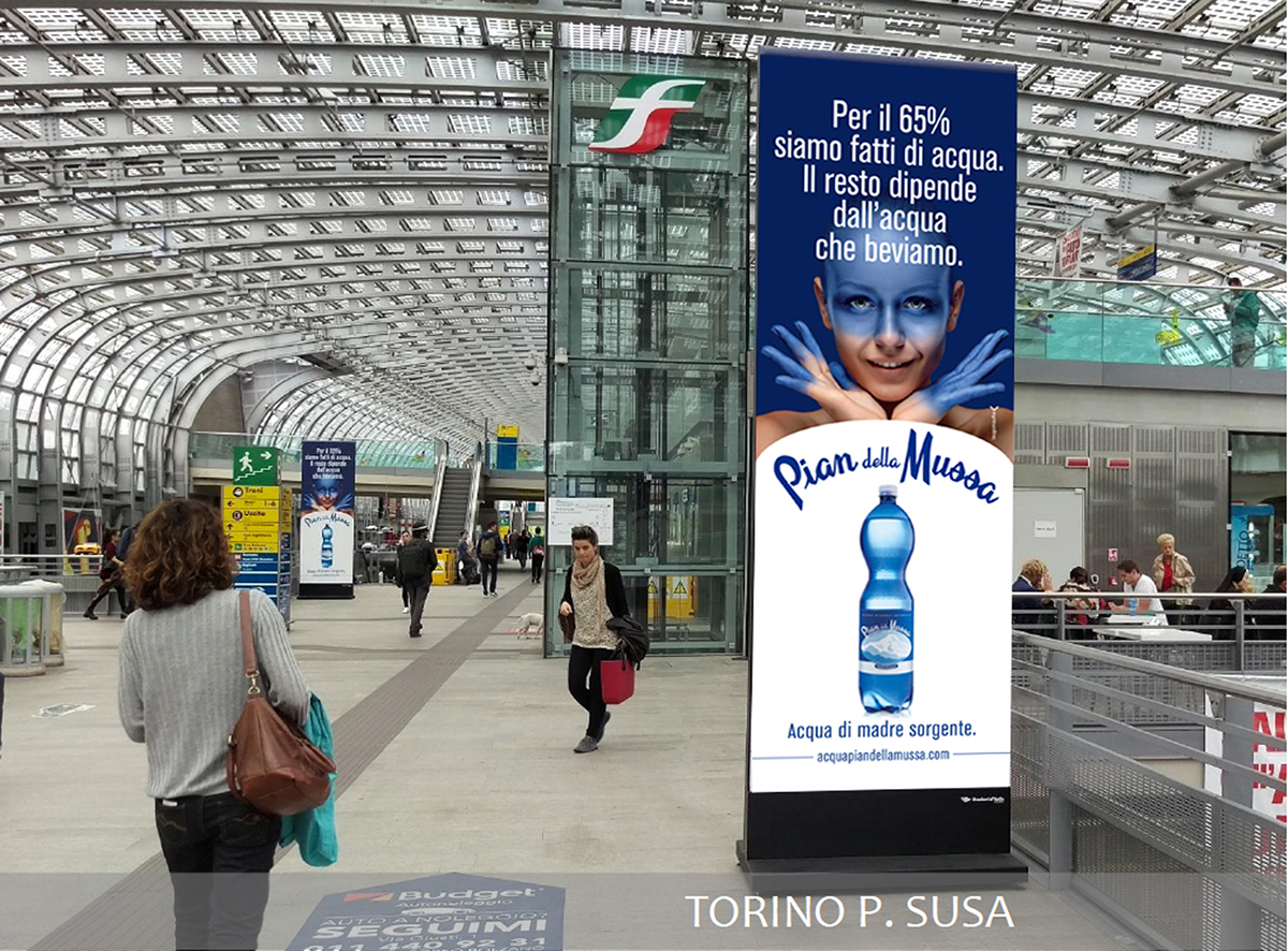 mineral water Historical local brand brand relaunch Life style positioning organic beverages out of home Logo and Label multipack ADV campaign