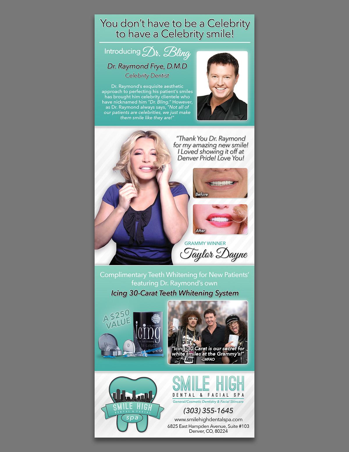 Print Advertisement For Smile High Facial Dental Spa
