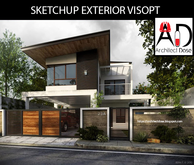 SKETCHUP EXTERIOR AND INTERIOR ‪#‎VISOPT‬ On Behance