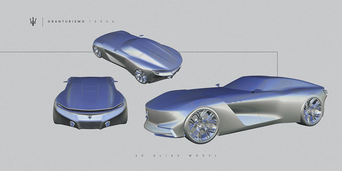 automotive   car design granturismo maserati Project Render sketch transportation