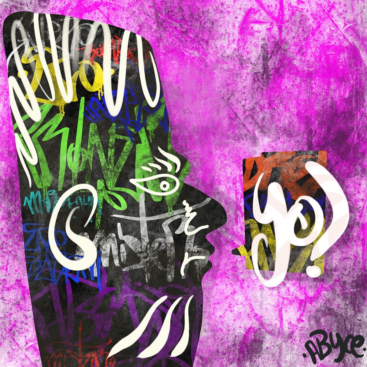Image may contain: drawing, cartoon and graffiti