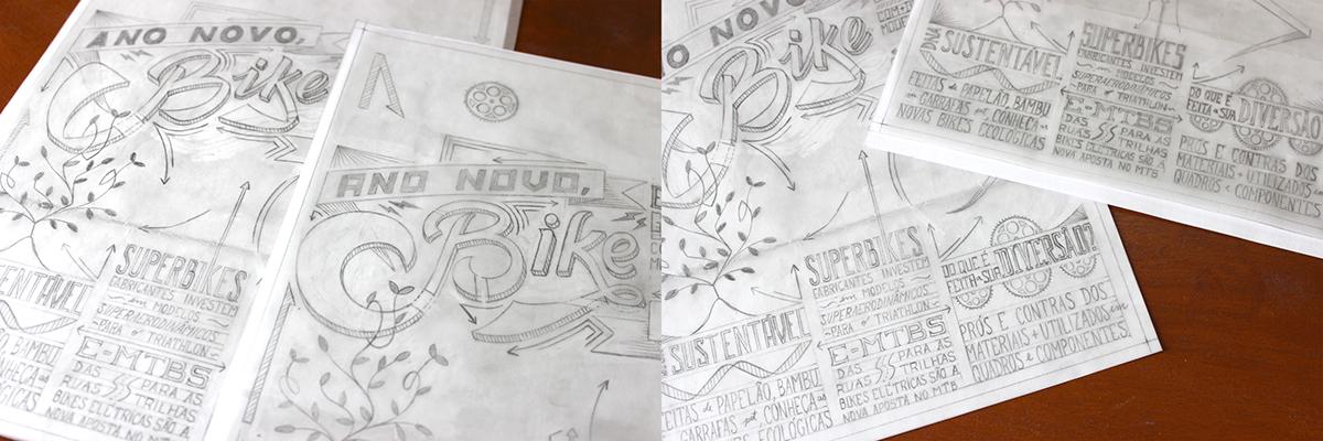 lettering letter type Bike vo2bike letters