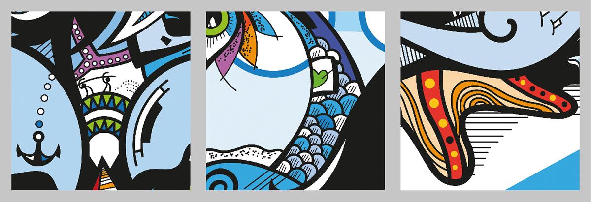 ilustración digital dibujo mermaid Canapé Mortuorio ilustracion arte digital vector
