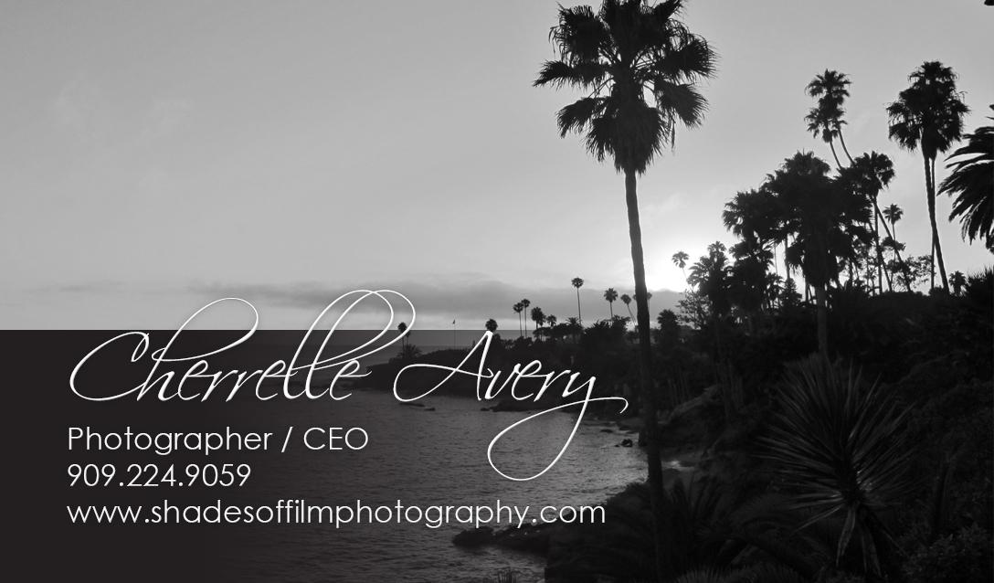 shades of film business card photographer cherrelle avery