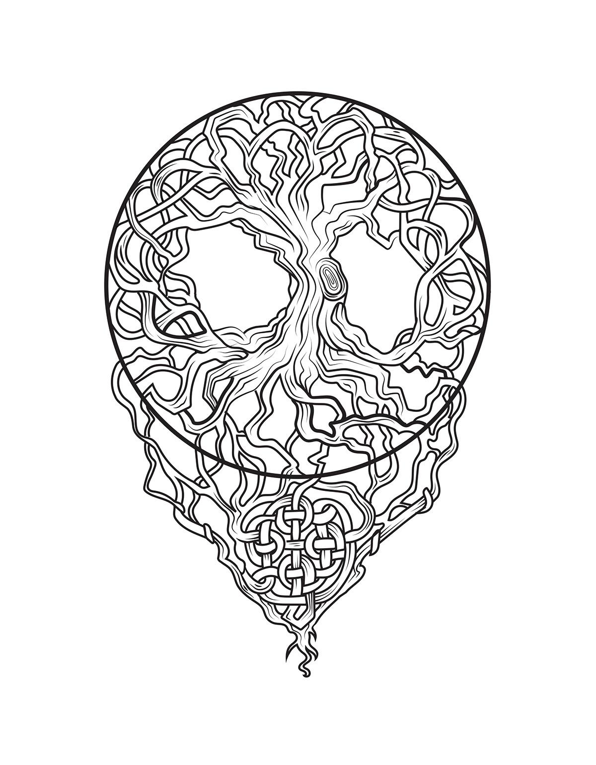 Celtic Tree Of Life Tattoo Design On Behance