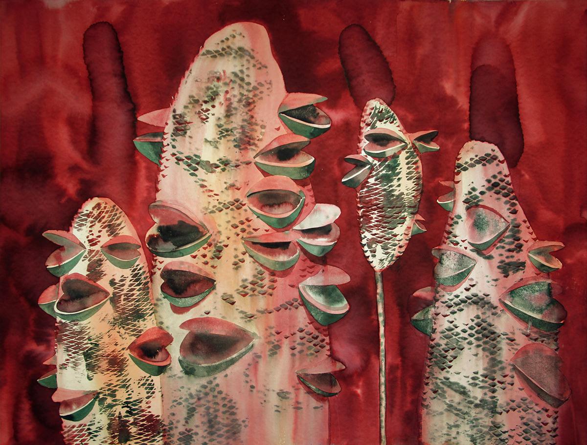 artist paint Singing акварель графика иллюстрация картина креатив поющие художник