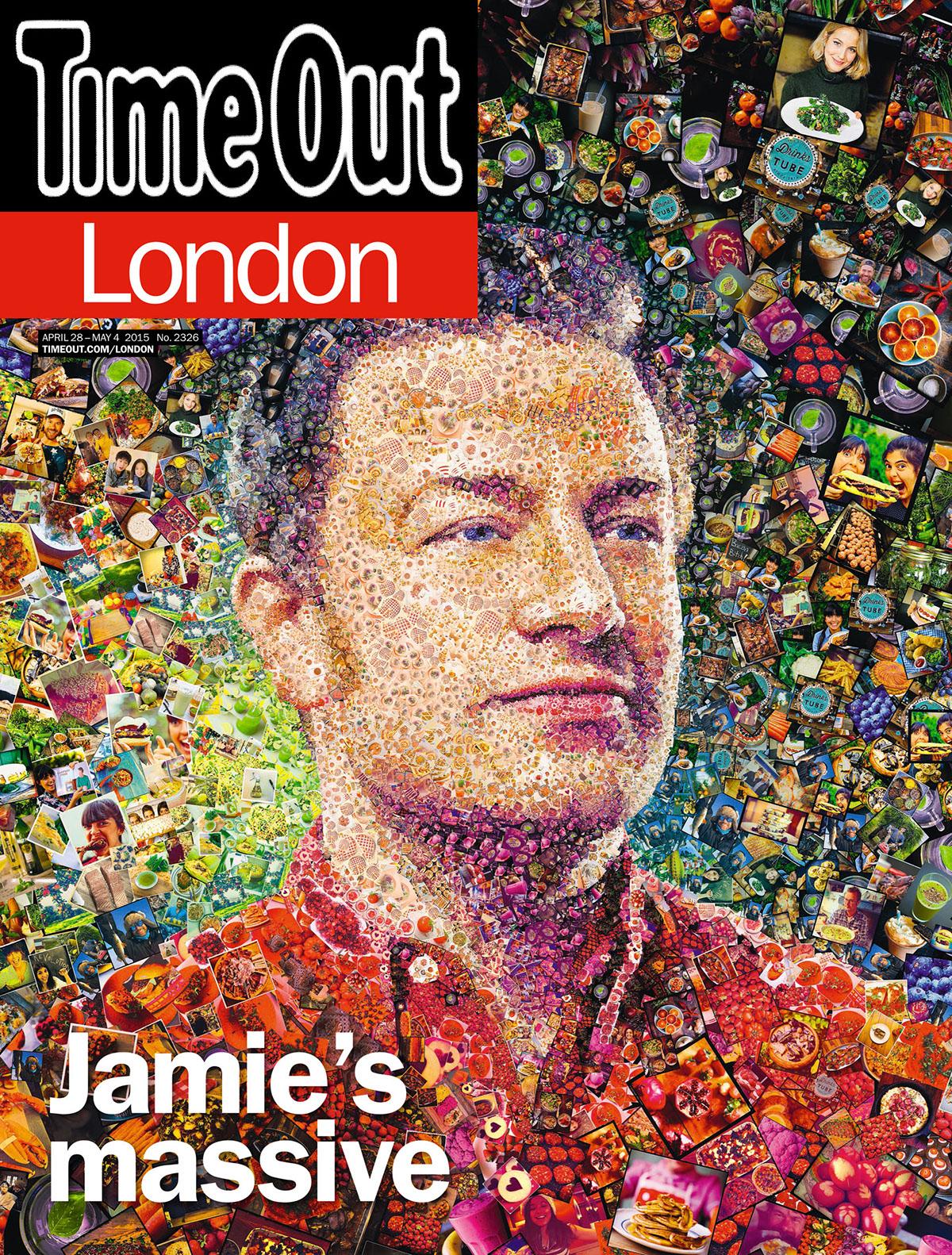 photomosaic collage Graphic designs portrait puzzle science Technology arts magazine newspaper