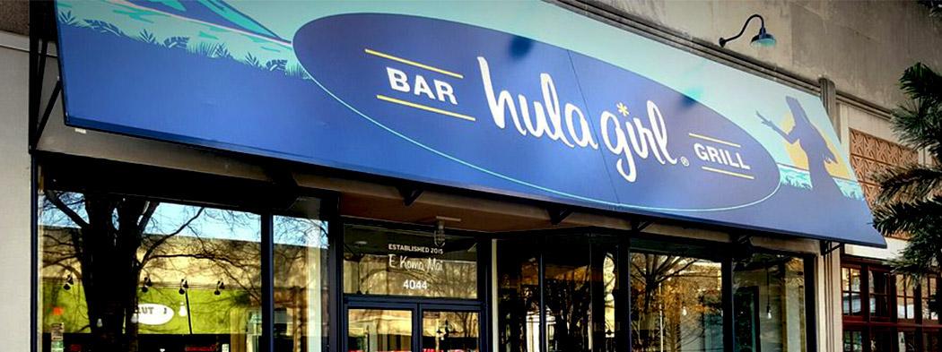 Hula Girl Bar & Grill, Hawaiian Restaurant Branding, Arlington, VA, DC