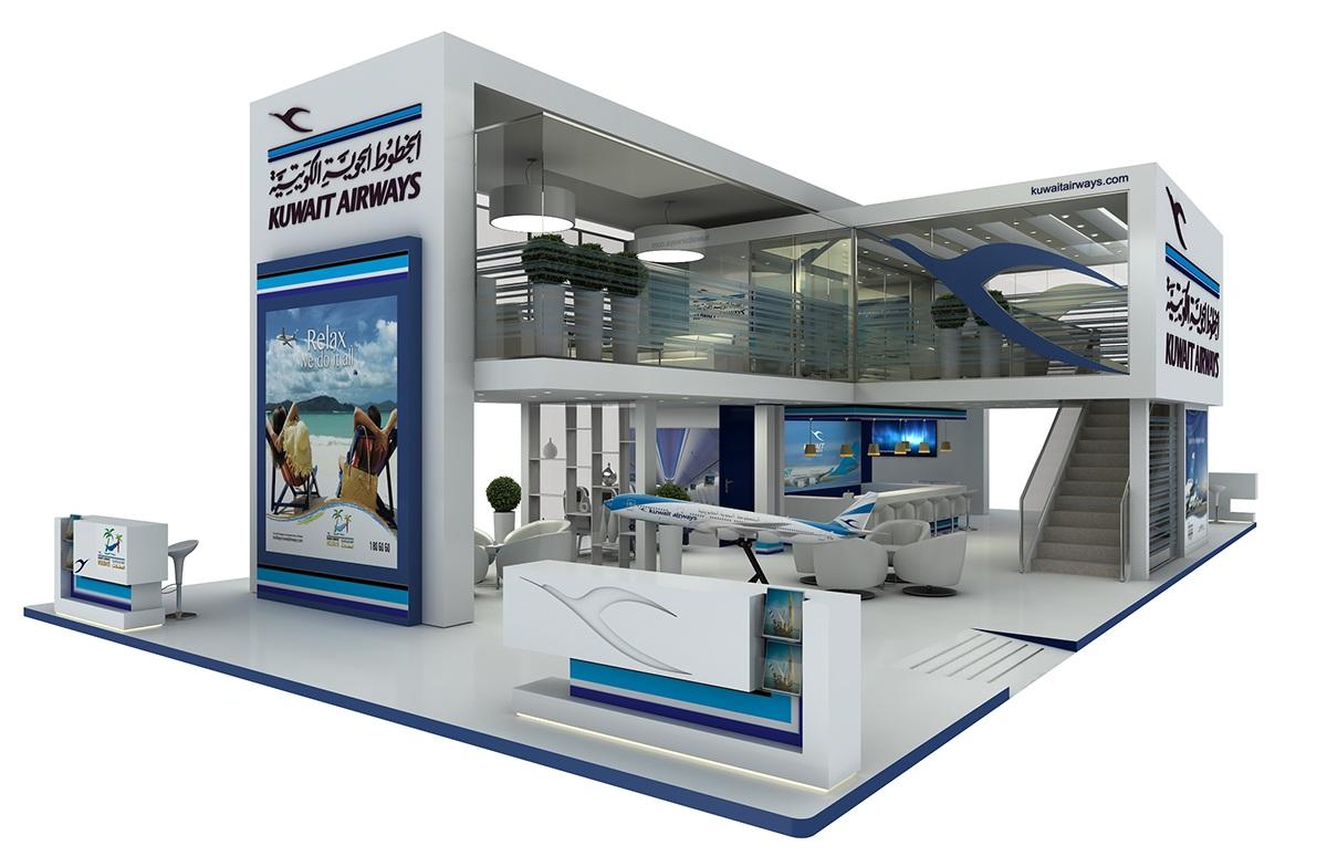 Exhibition Booth Kuwait : Kuwait airways on behance