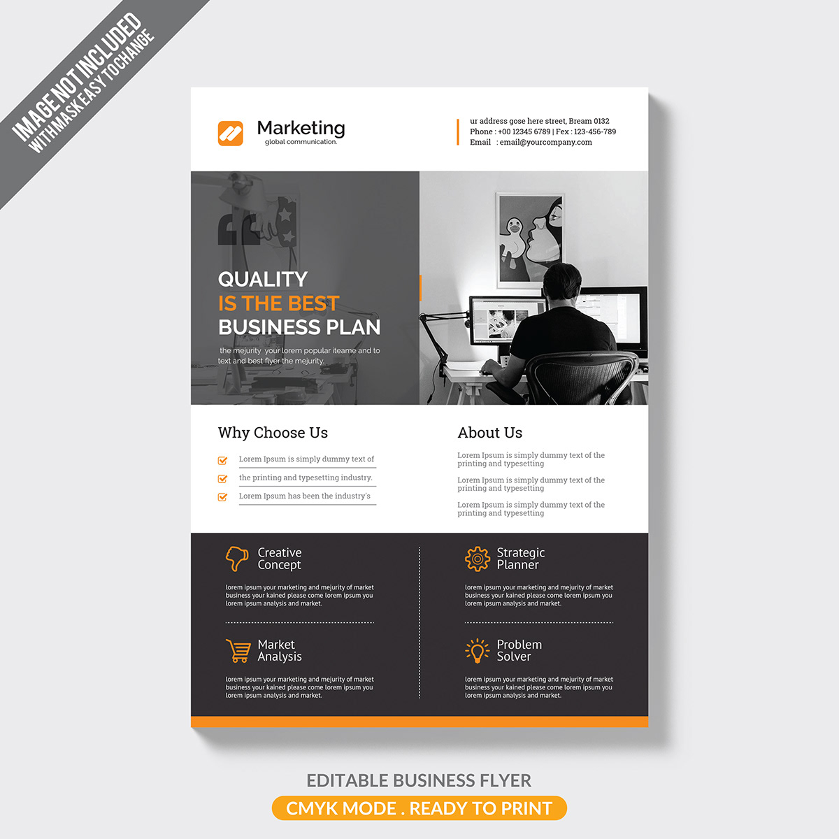 Free Corporate Flyer Template On Pantone Canvas Gallery