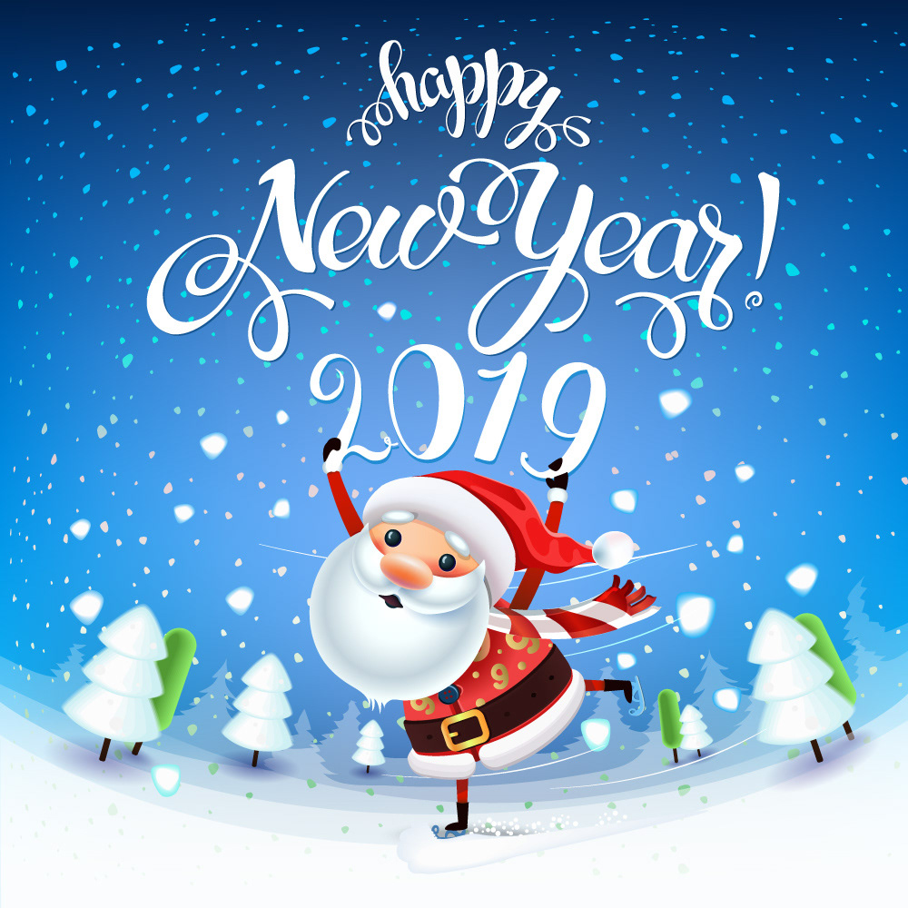 Christmas Graphics 2019.2019 Merry Christmas Happy New Year On Behance