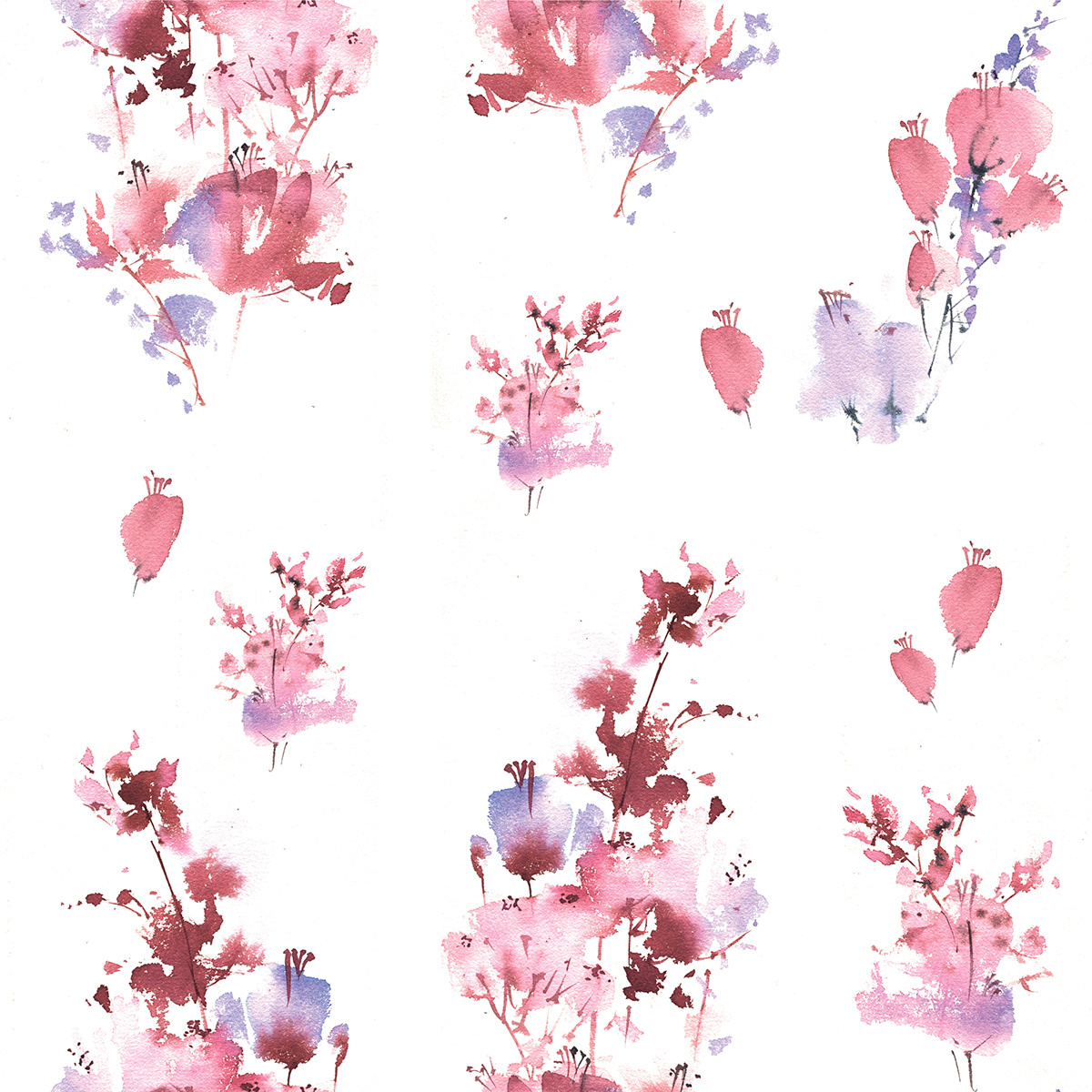 artist graphic pattern watercolor