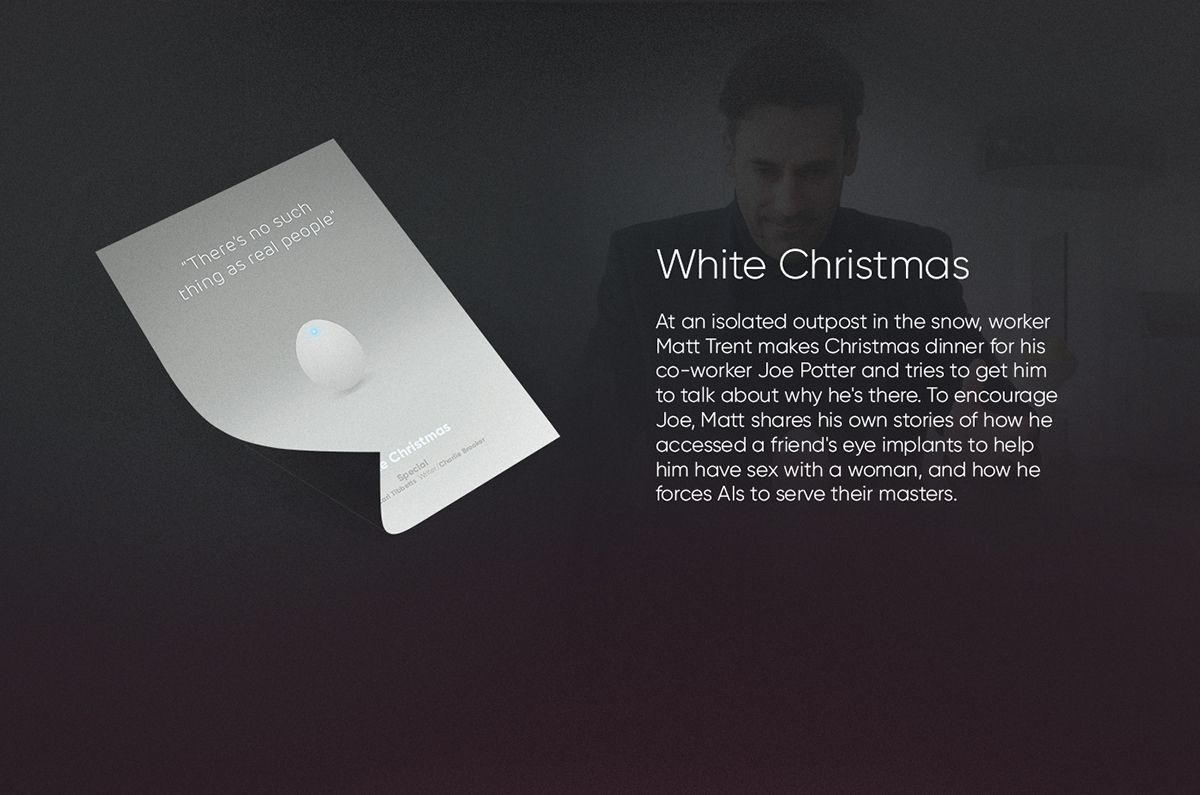 White Christmas Black Mirror Poster.Black Mirror Animated Posters Season 1 2 3 On Pantone