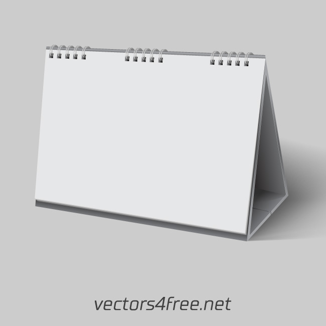 Blank Desk Calendar Template Vector On Behance