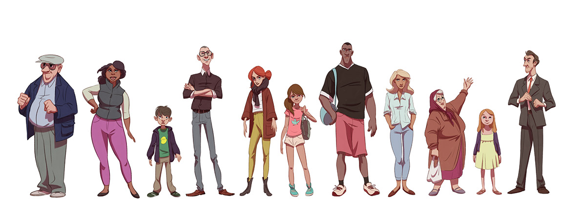 Character Design Group : O make them giants character design on behance