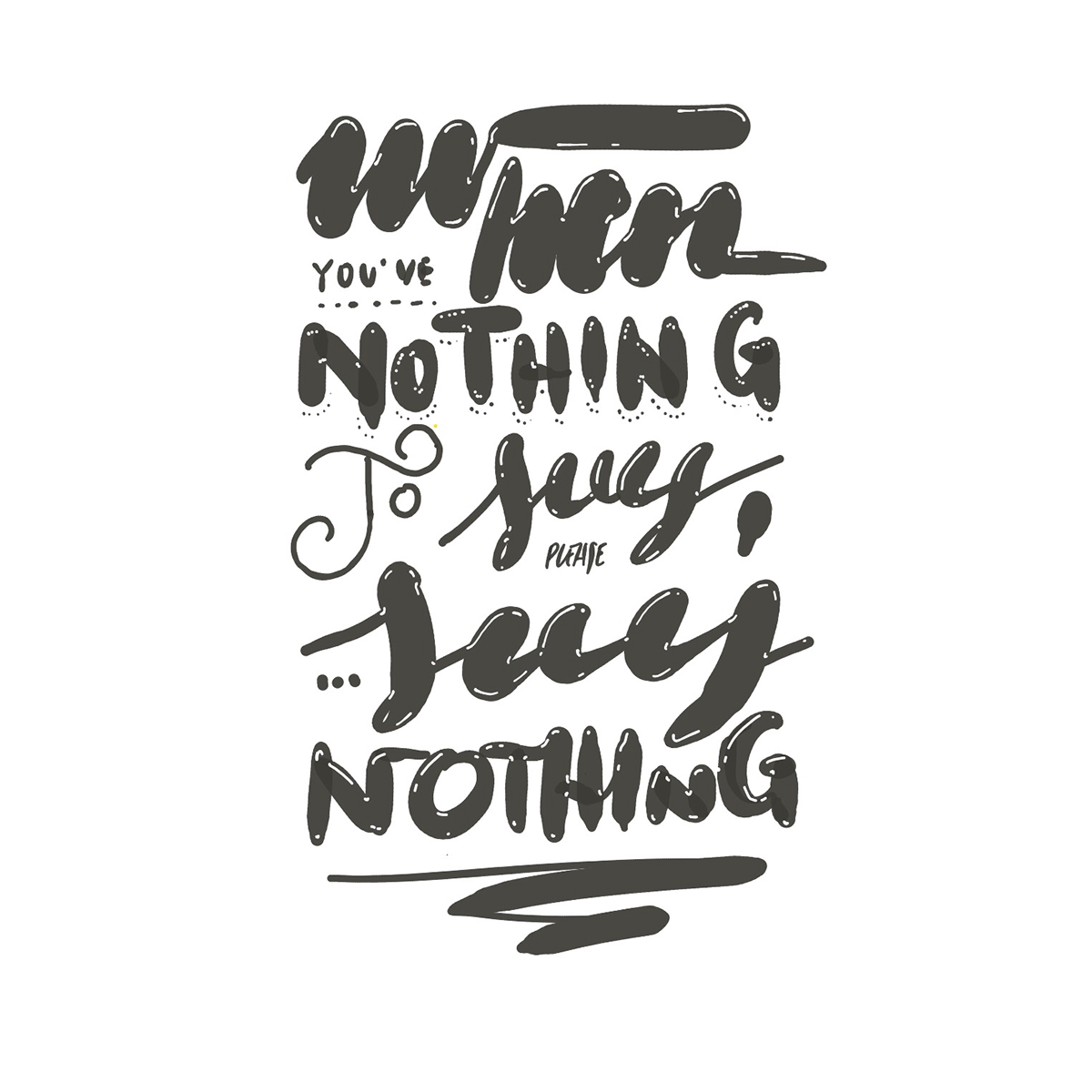 typography   lettering Drawing
