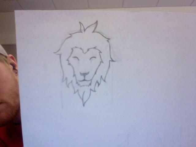 simple clean lion