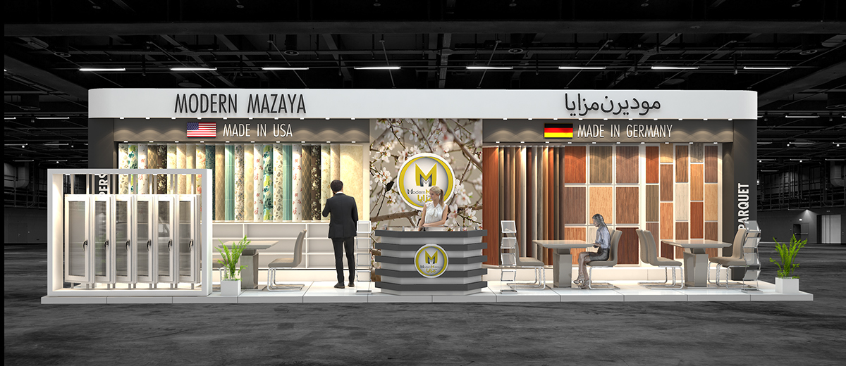 Modern Exhibition Stand Job : Modern mazaya exhibition stand design for index on behance