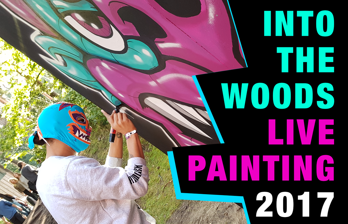 Into the Woods festival Live paint on Wacom Gallery