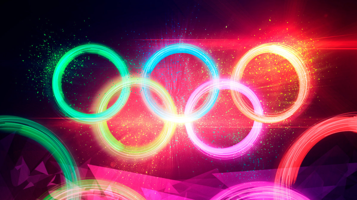 rio Olympics Olympic Games olympic rings athletic fiber glowing Olympic Artwork explosion