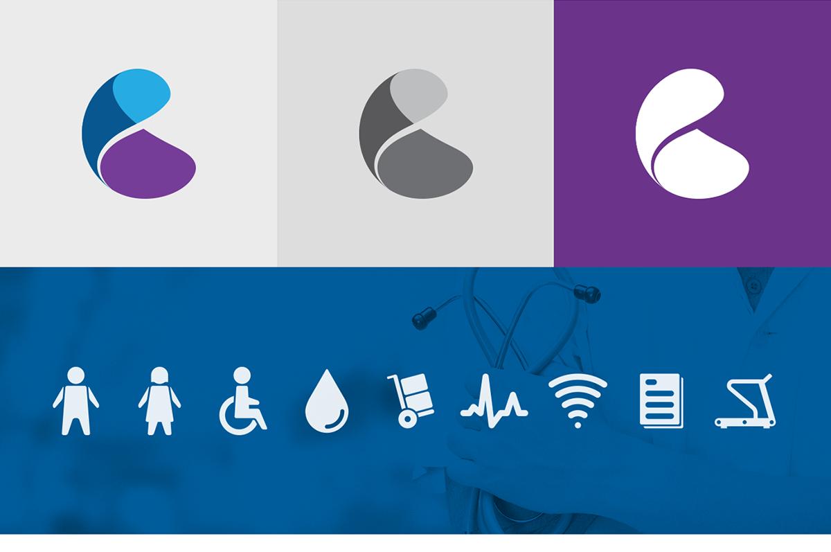 logo brand heart medical Health clinic healthcare