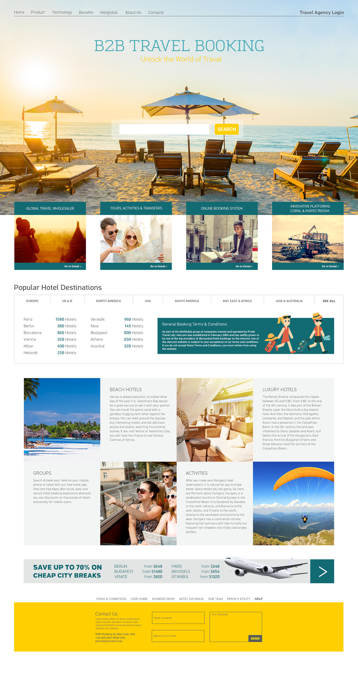 BB Travel Booking Website Template On Behance - Booking website template