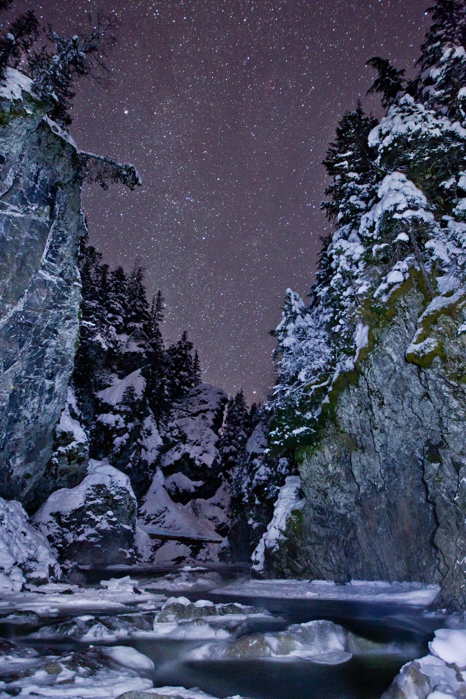Kleanza Creek under the stars, Terrace, BC.