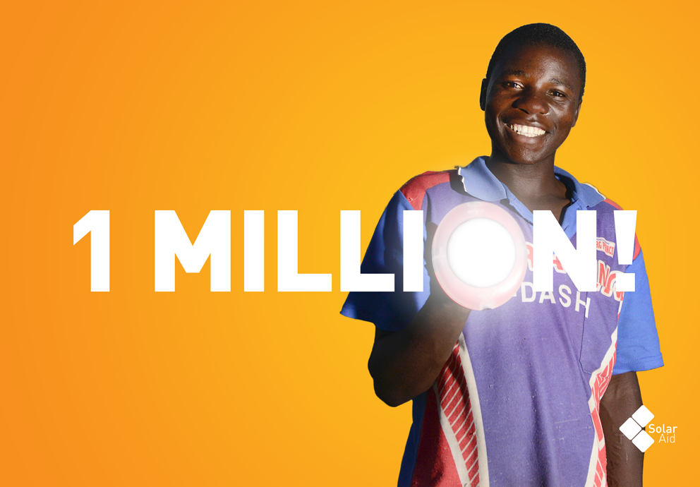 SolarAid solar lighting africa malawi kenya Zambia Tanzania 1 million