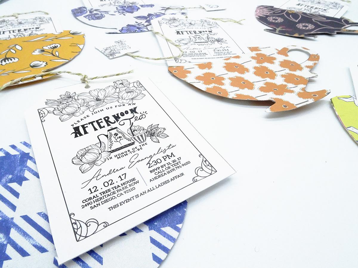 Tea Party Baby Shower Invitation on The Art Institutes Portfolios