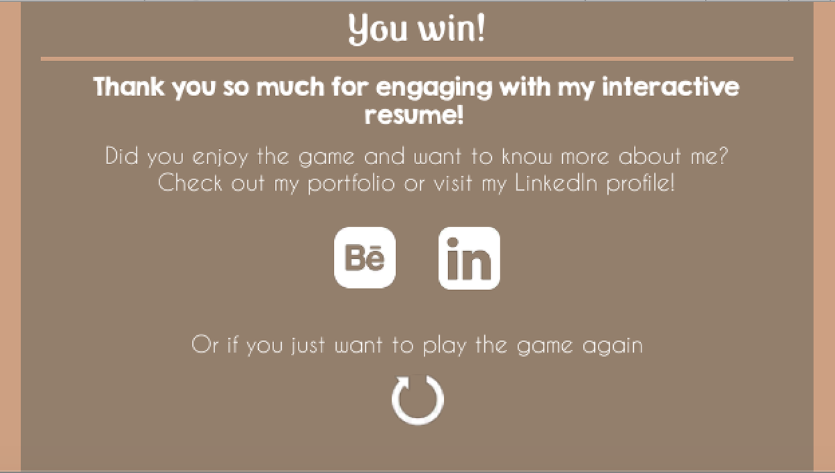 Interactive Resume on Behance