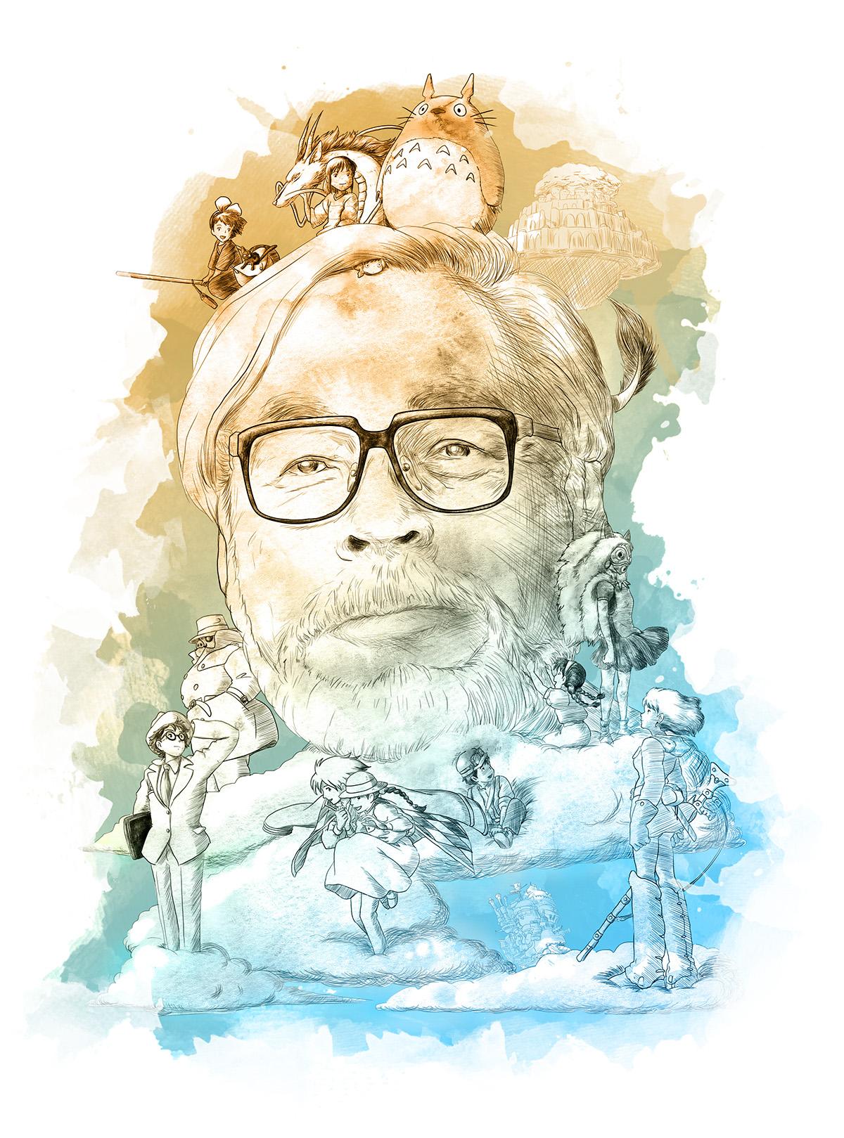 Hayao Miyazaki on Behance