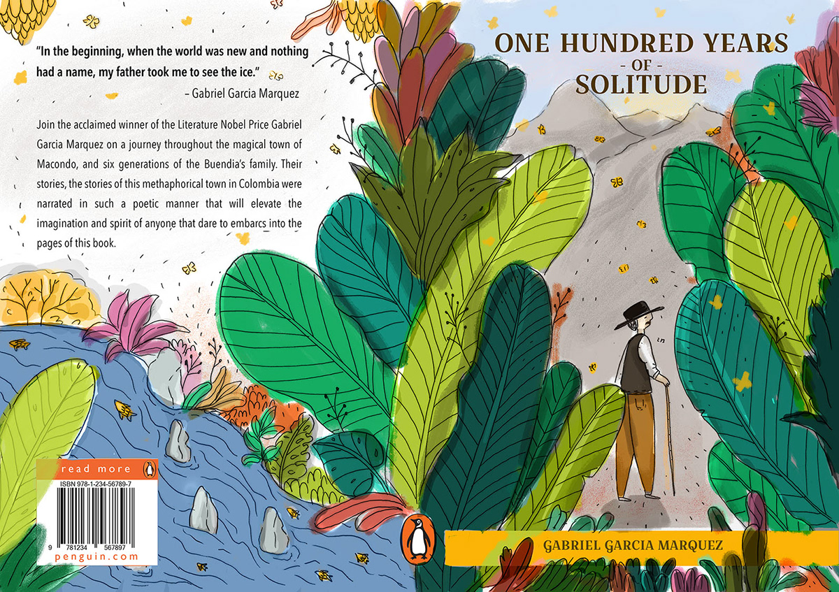One Hundred Years of Solitude - Book Cover Design on Behance